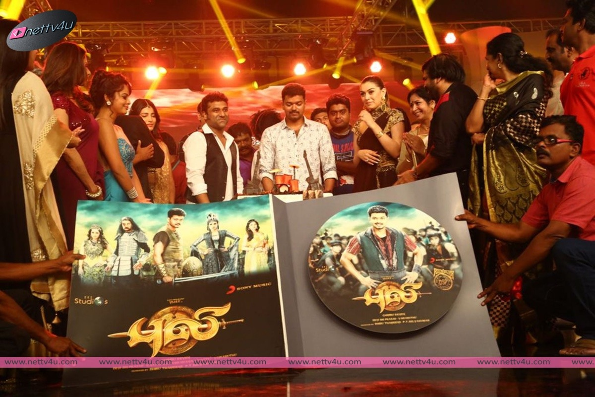 Puli Movie Audio Launch Stills