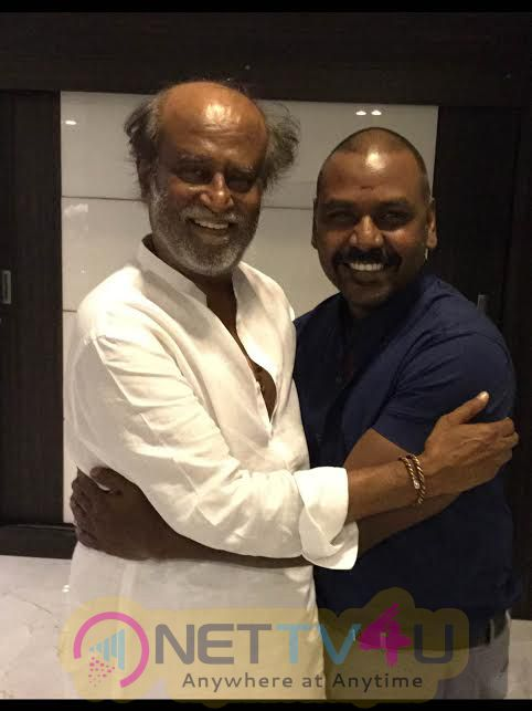 Raghava Lawrence Meets Superstar Rajinikanth Image