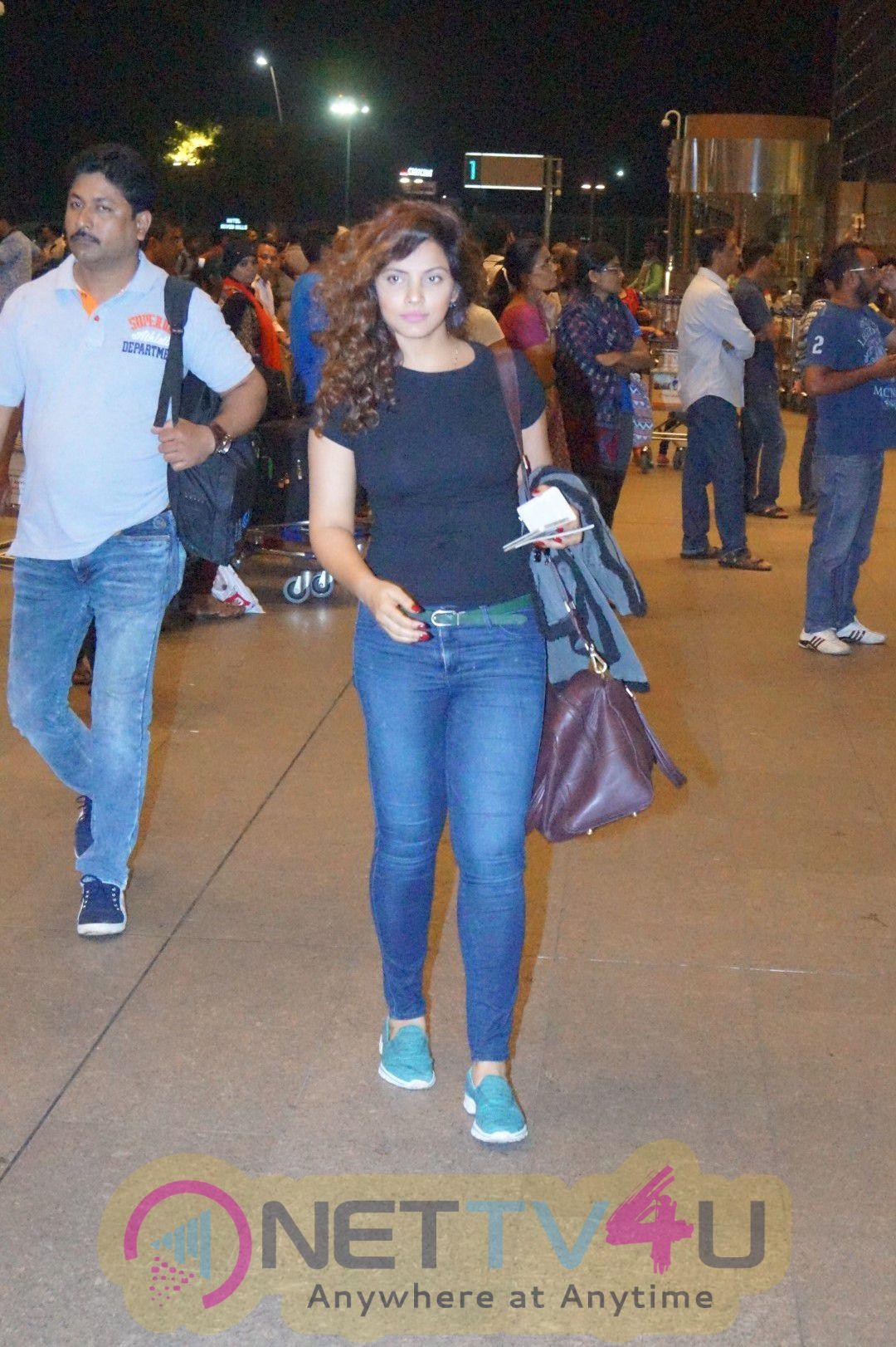 Richa Chadda, Arshad Warsi & Nimrat Kaur Spotted At Airport Dazzling Photos Hindi Gallery