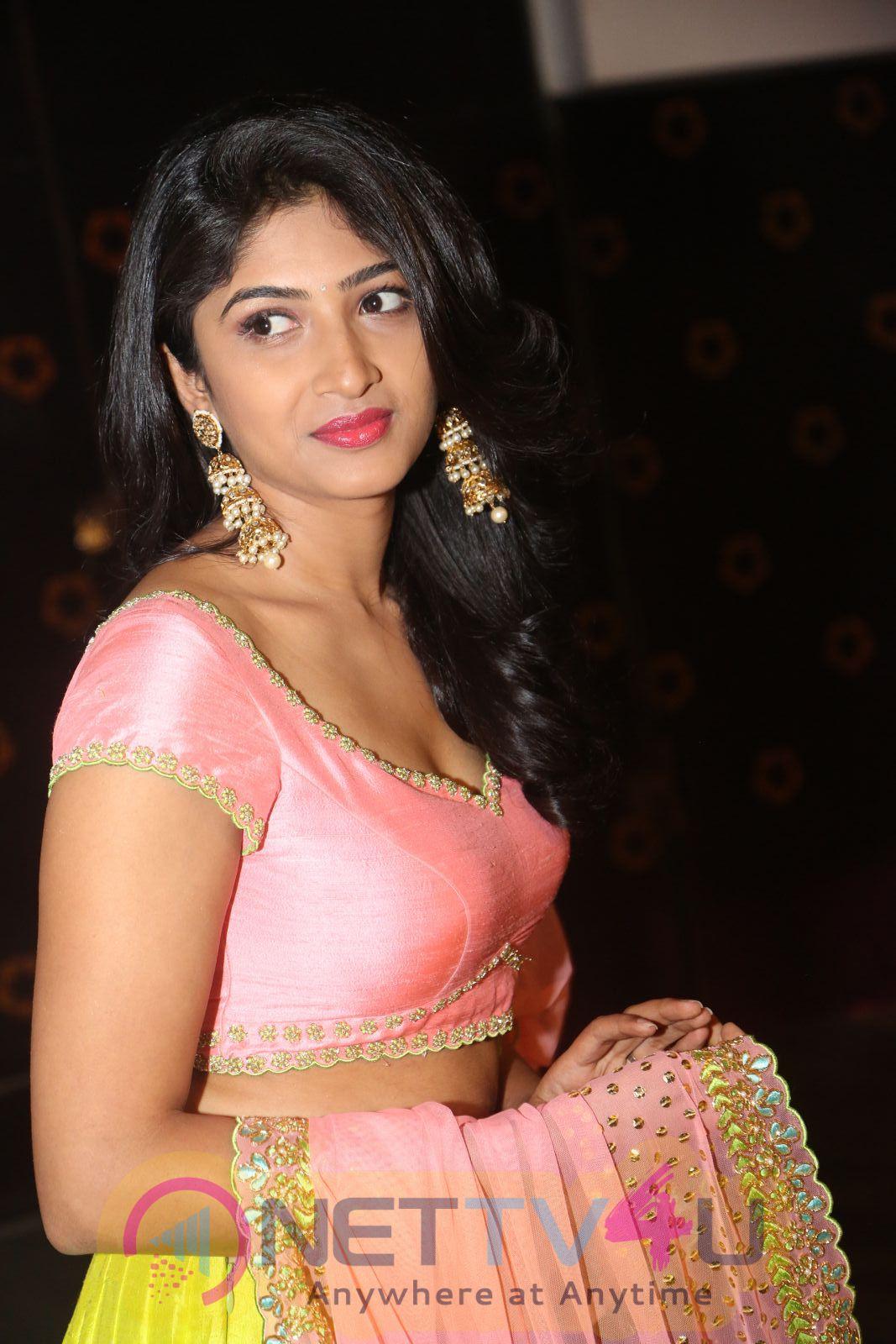 Roshini Cute Lovely Stills At Saptagiri Express Movie Audio Launch Photos
