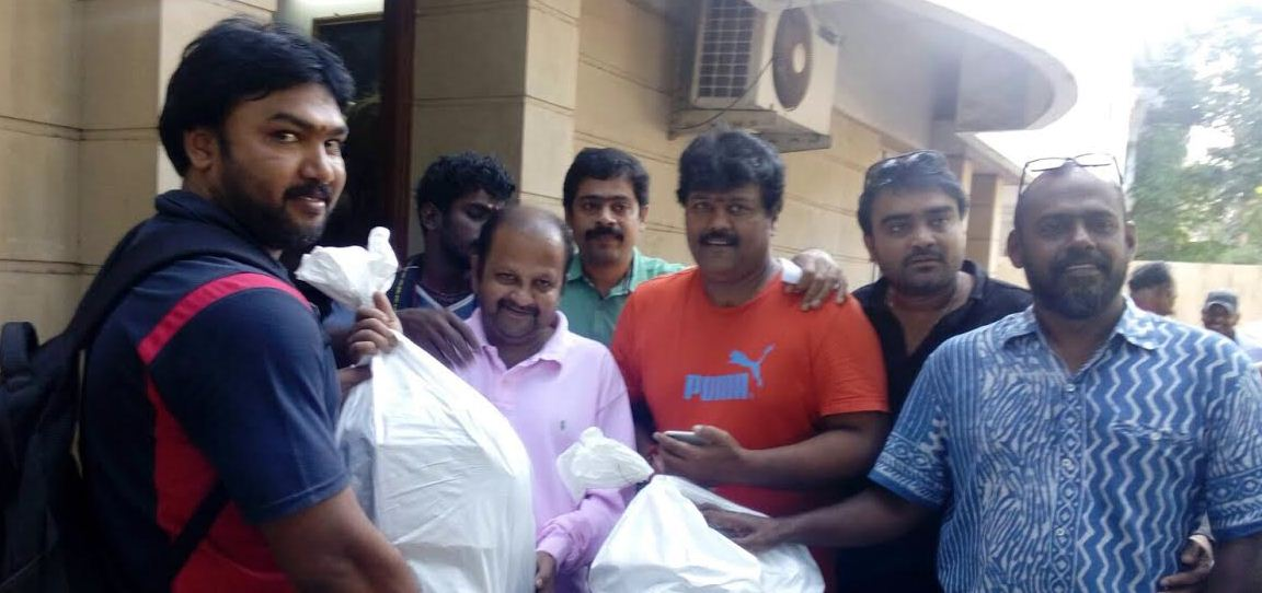 Radha Ravi's Son Gets The Relief Materials From Nadigar Sangam!