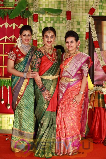 Rahul - Sridevi Seemantham Function Beauteous Colourful Photos