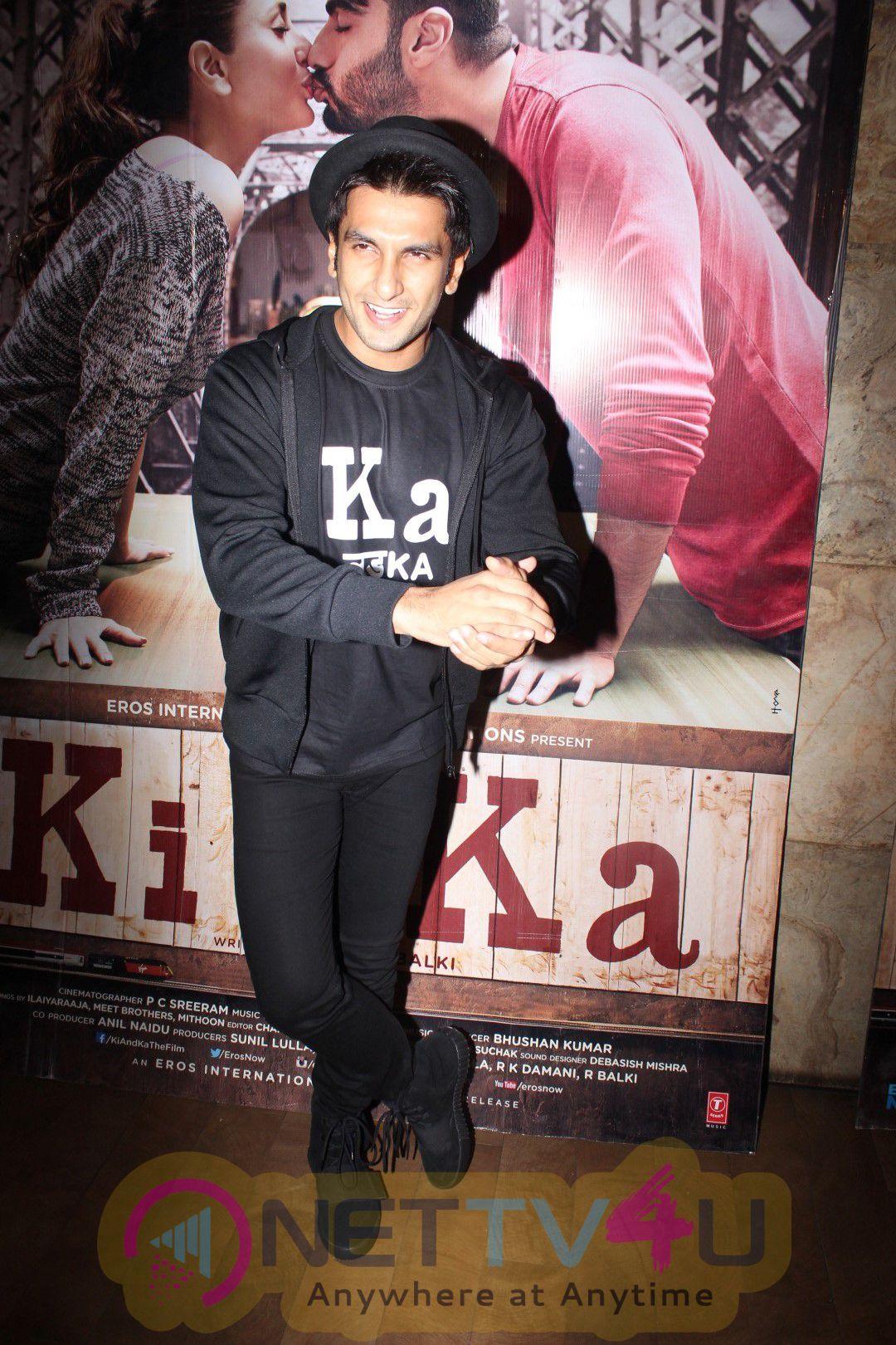 Ranveer Singh & Other Celebs At Screening Of Film KI & KA Stills