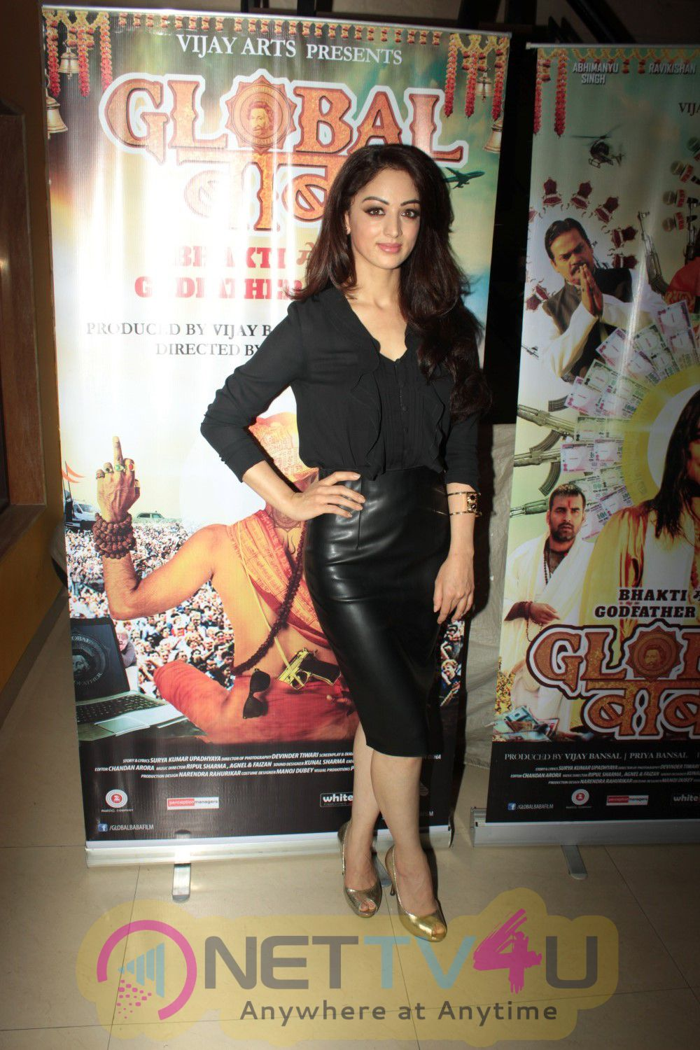 Ravi Kishan, Sandeepa Dhar At Press Meet Of Film Global Baba Latest stills