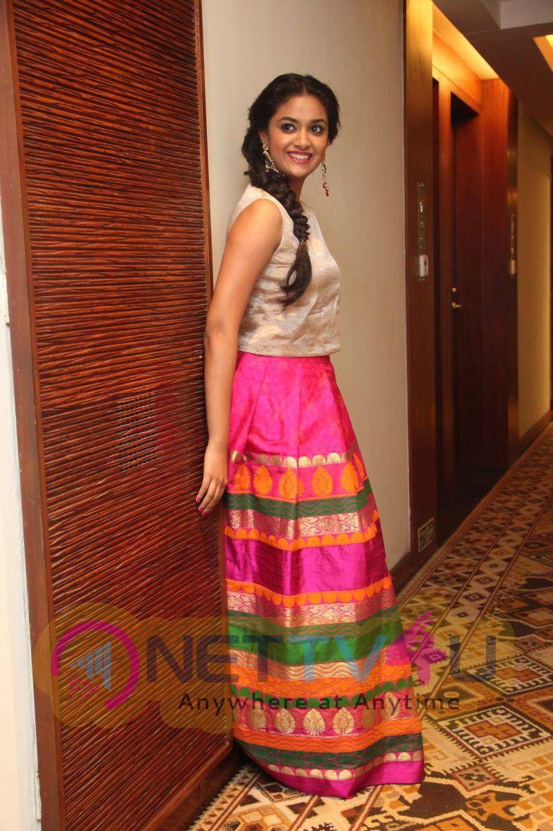 Recent Photos Of Actress Keerthi Suresh At Rajini Murugan Audio Launch