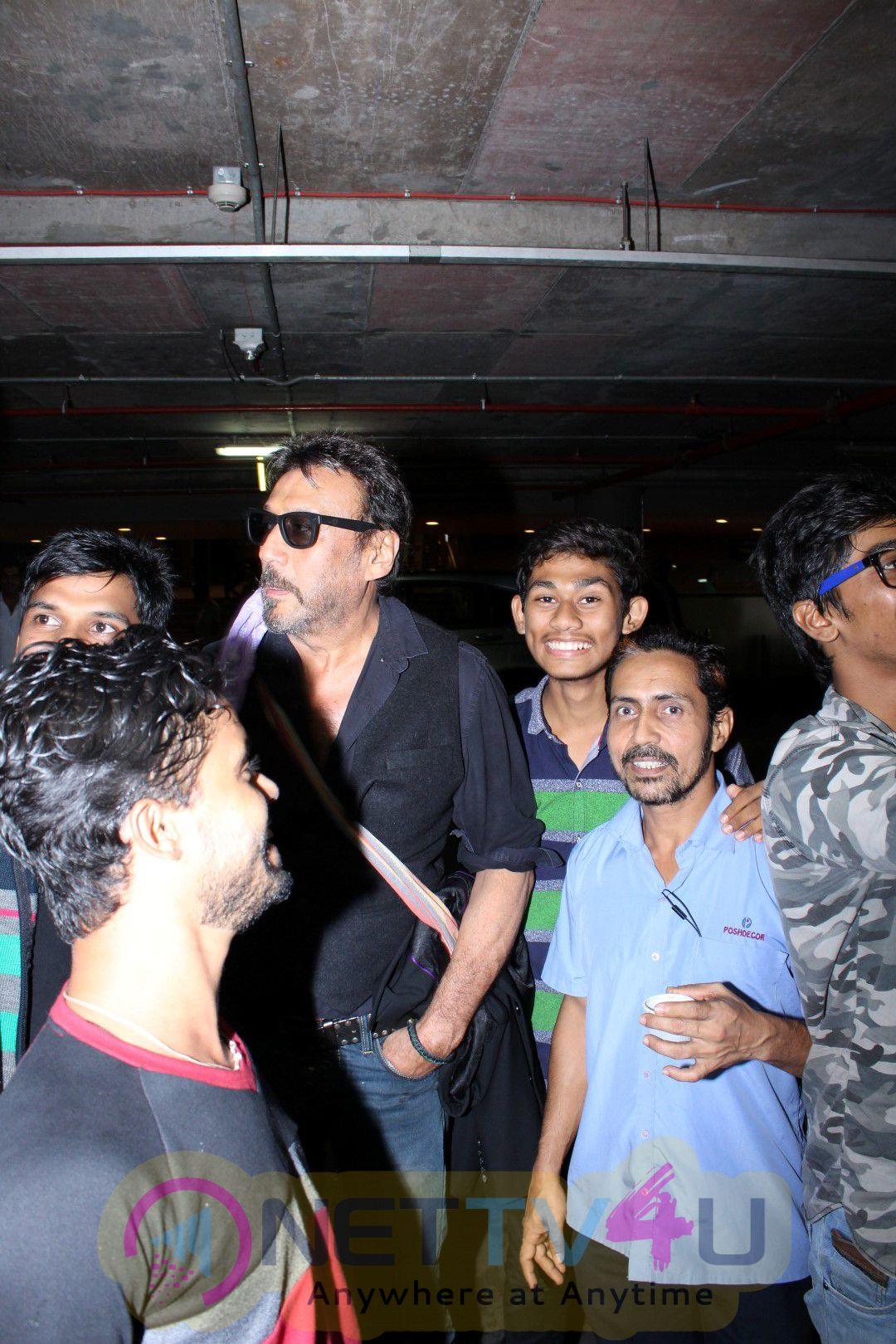 Sanjay Dutt, Prakash Raj & Jackie Shroff Spotted At Mumbai Airport Photos