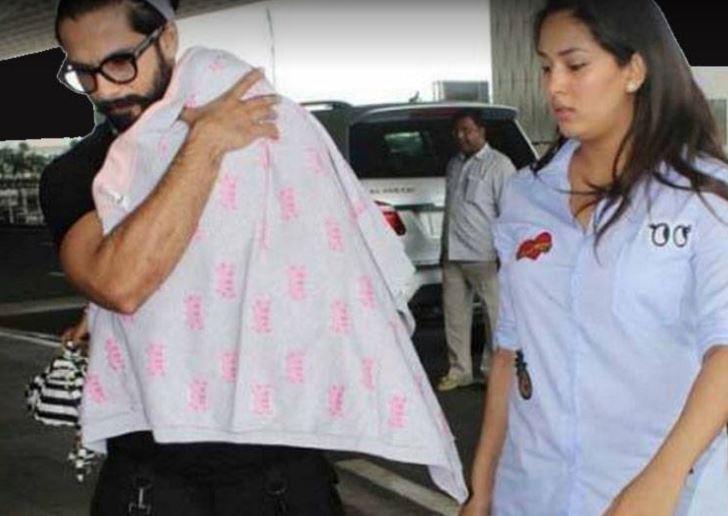 Shahid Kapoor With His Darling Daughter Misha!