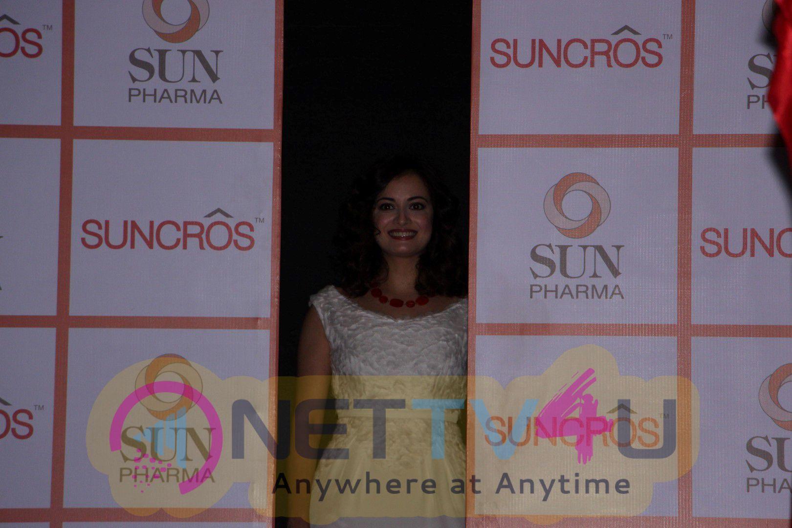 Sun Pharma Strategic Business Announcement With Dia Mirza Delightful Photos