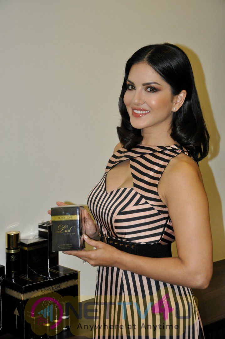 Sunny Leone Spotted Promoting Perfume Brand Lust Cute Stills