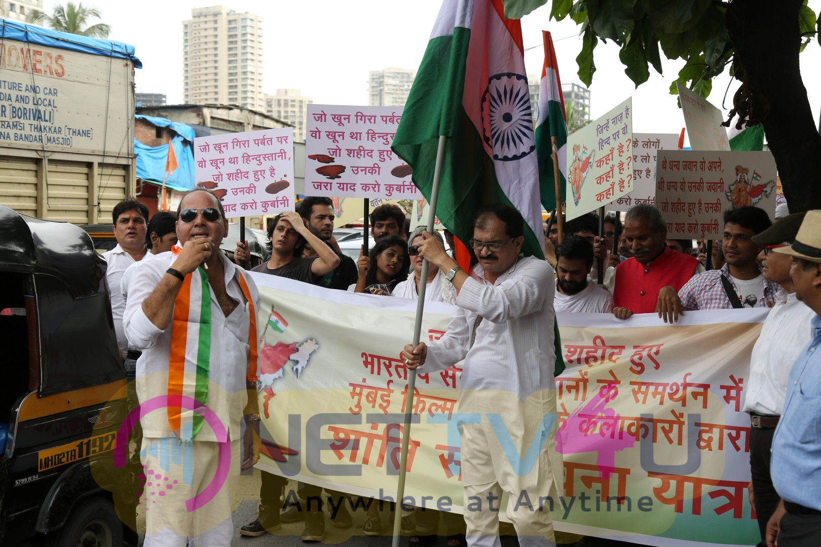 Support Of Indian Army Tribute To Martyrs Of Uri Attack With Dolly Bindra Photos