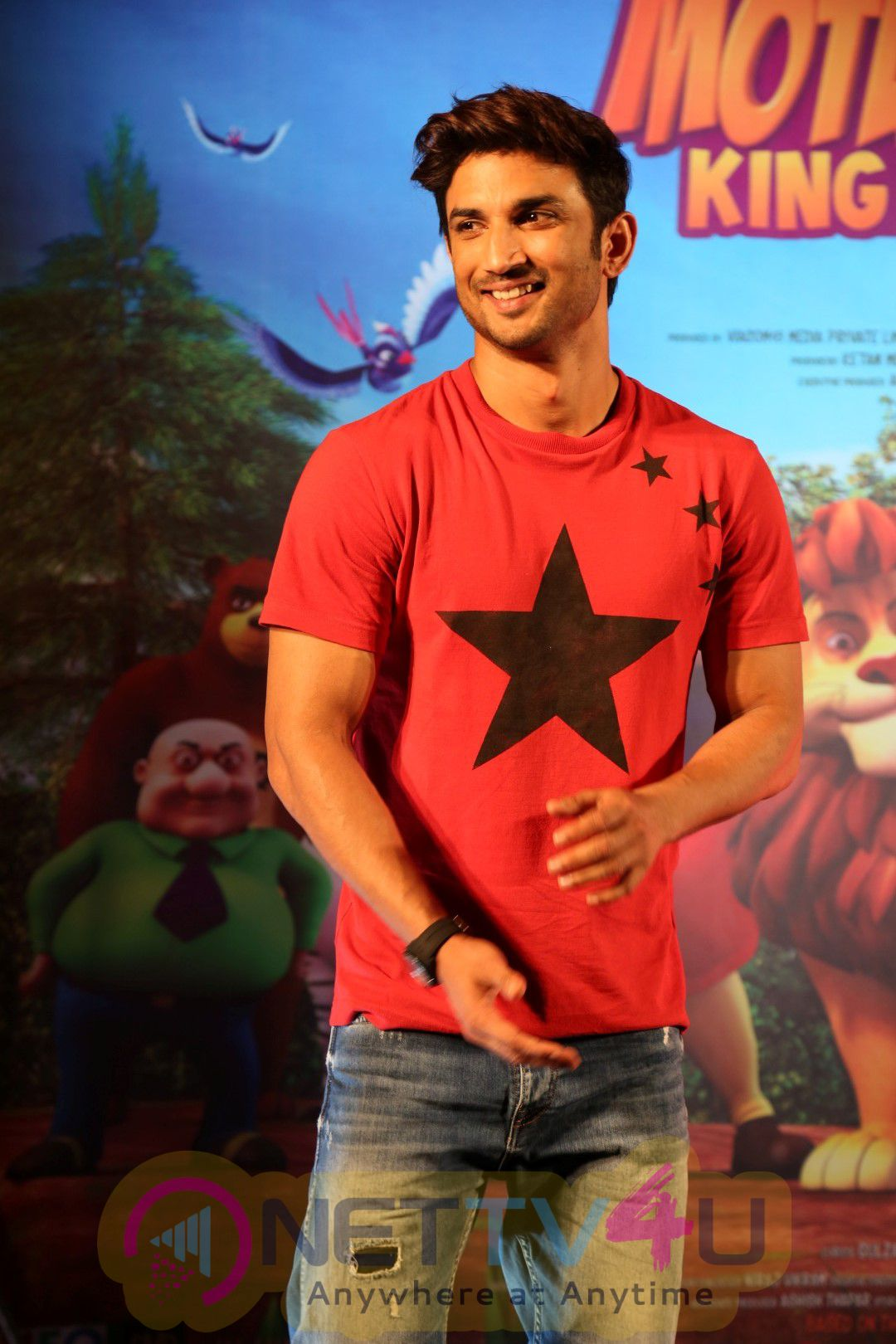 Sushant Singh Rajput At Trailer Launch Of 3D Animated Movie Motu Patlu Stills