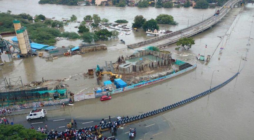 Saidapet Bridge Sinking… Rescue In Full Swing!