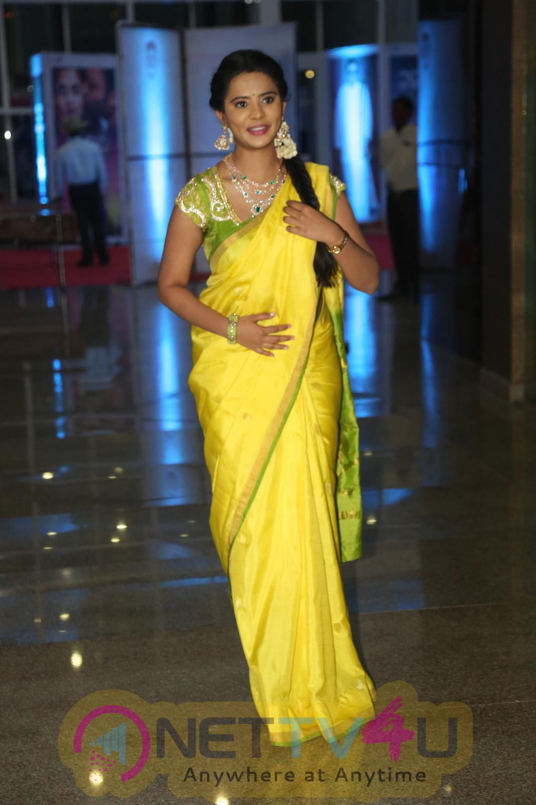 Savithri Audio Launch Actress Sreemukhi Nanditha Dhanya Manasa Lastest Hot Images