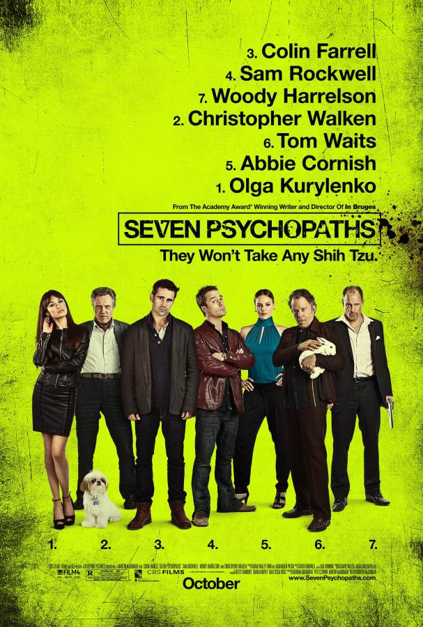 Seven Psychopaths Movie Review English