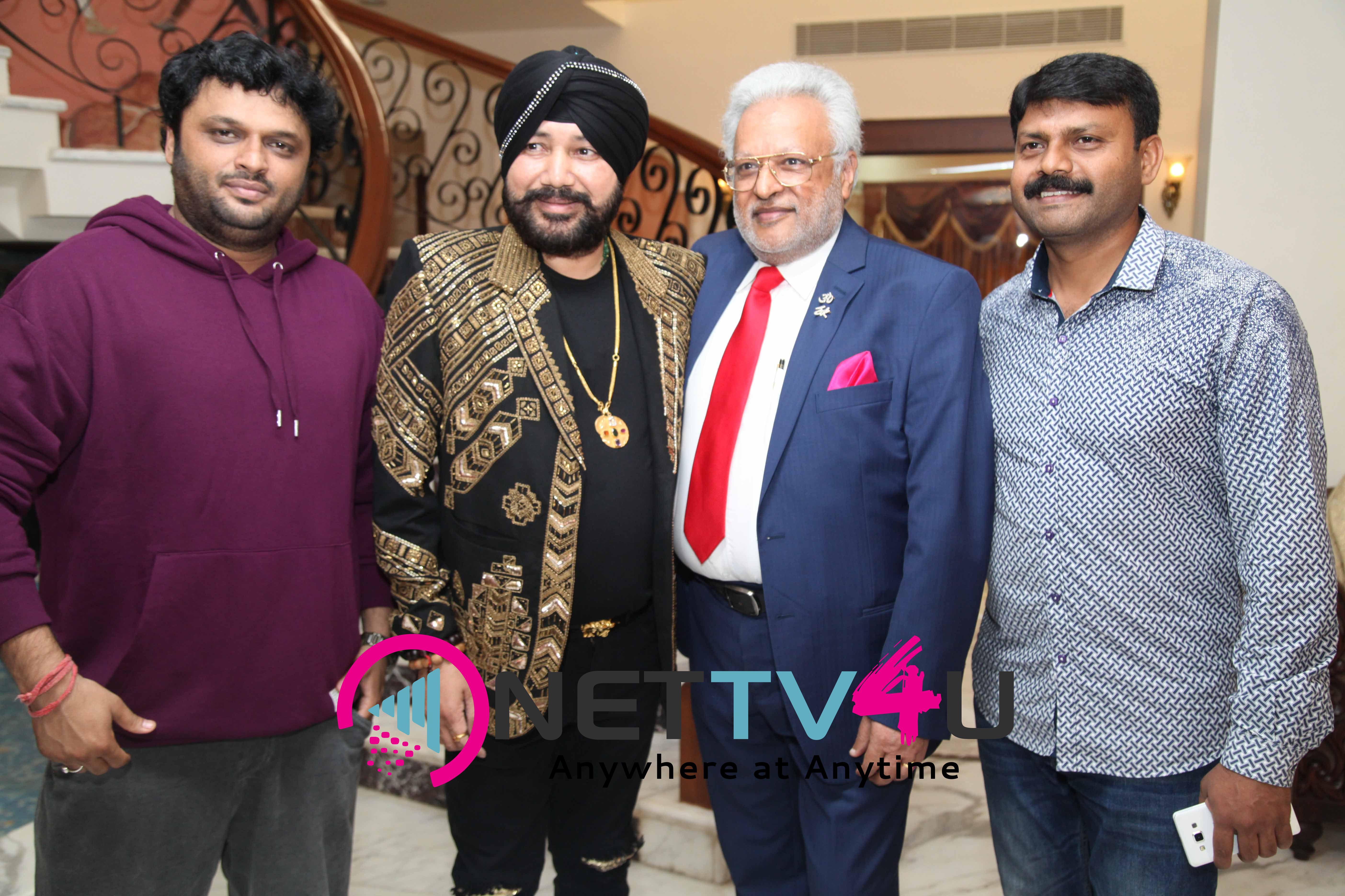 singer daler mehndi   shalabh kumar joined to produce kannada film check pressmeet stills 15