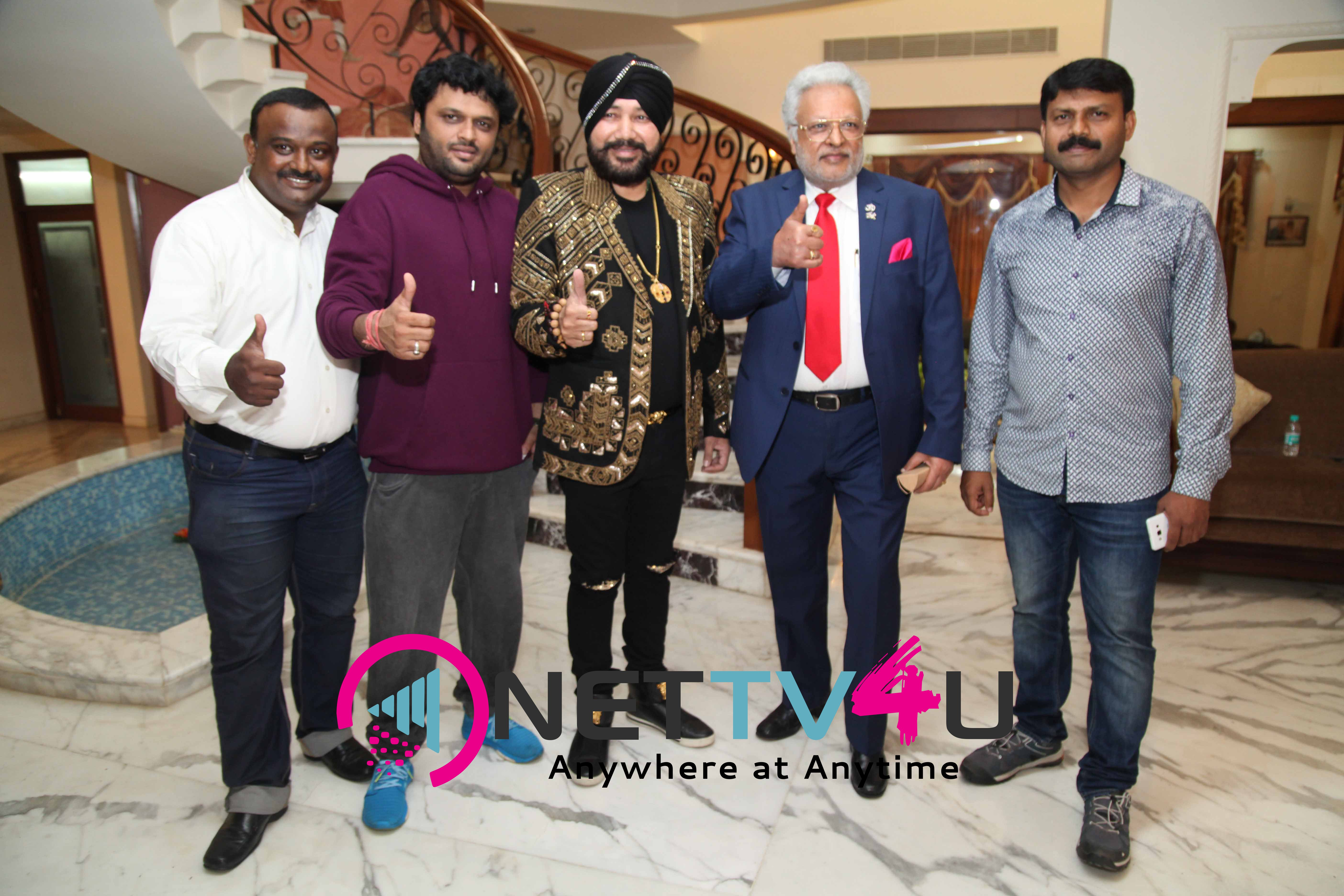 Singer Daler Mehndi - Shalabh Kumar Joined To Produce Kannada Film Check Pressmeet Stills