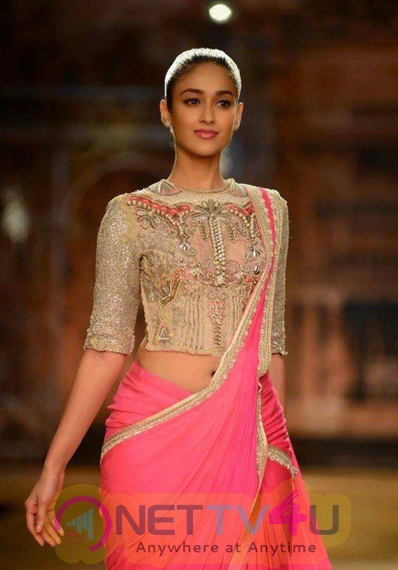 South Indian Actress Ileyana Latest Ramp Walk Photoshoot In Saree Stills Telugu Gallery