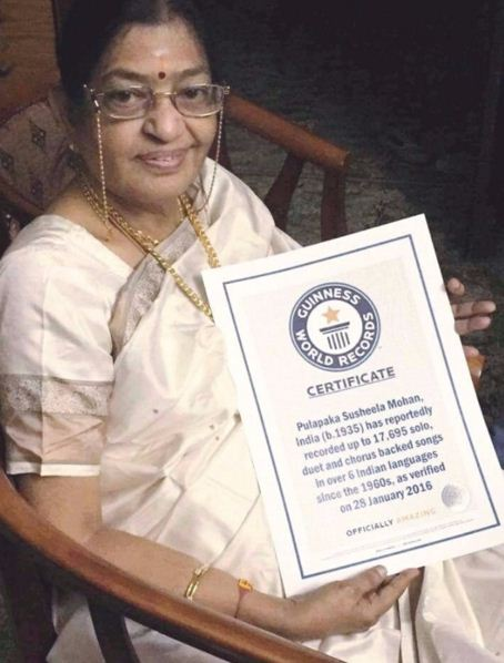 South Indian Nightingale P. Susheela Enters The Guinness Book Of World Records!