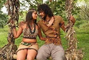 Sriki And Rashmi Run Around Trees In Tribal Out..