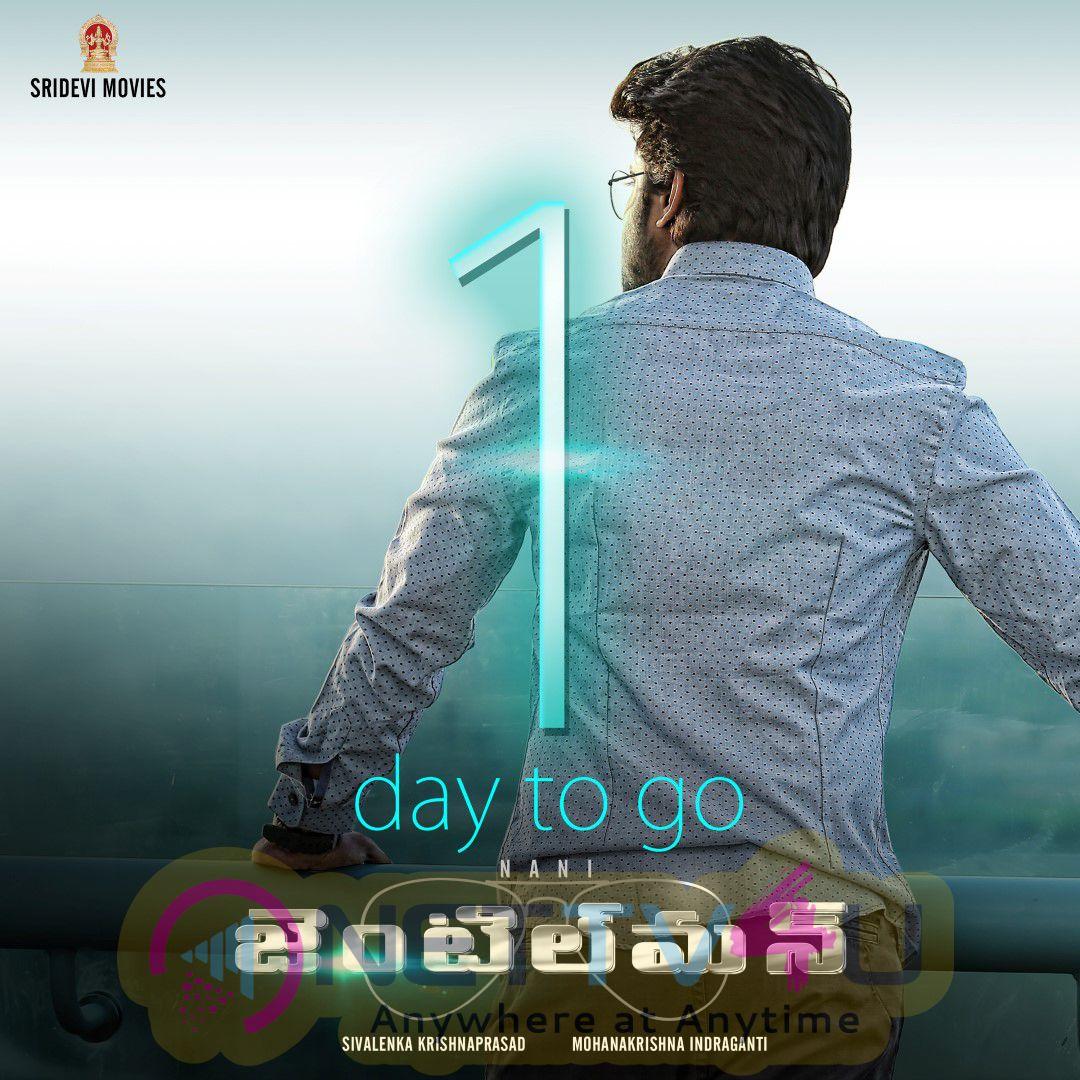 Telugu Movie Gentleman 1 Day To Go Poster