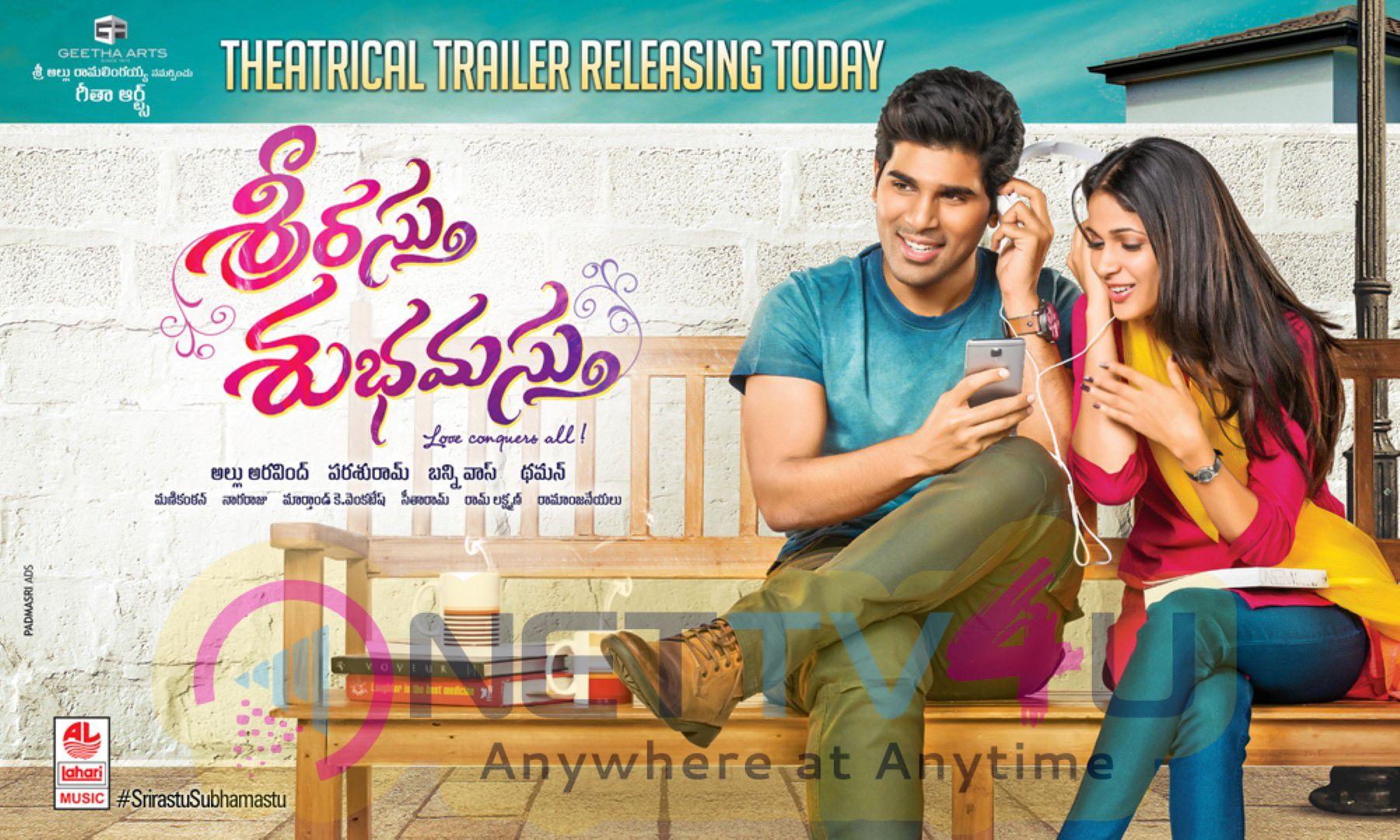 Telugu Movie Srirasthu Subhamasthu  Trailer Release Posters