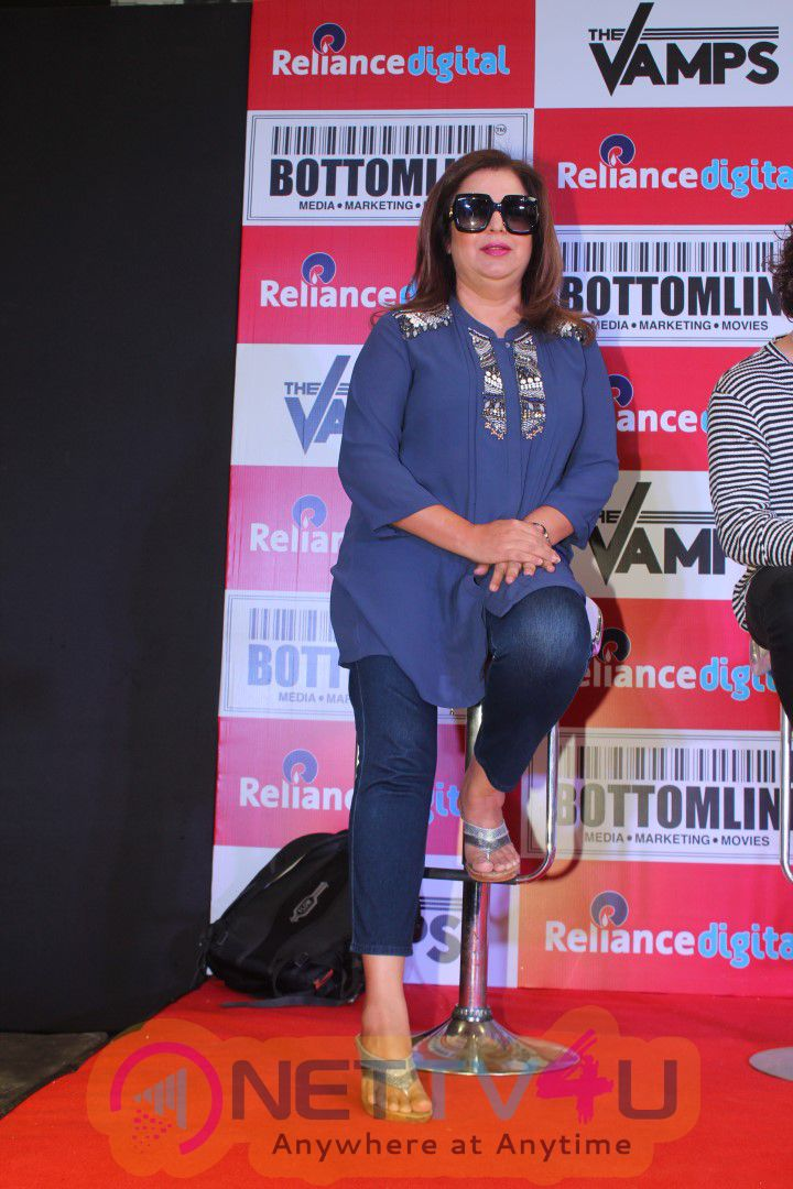 The Vamps And Farah Khan Meet Fans At Reliance Digital, Announce New Song Nakhra Hindi Gallery