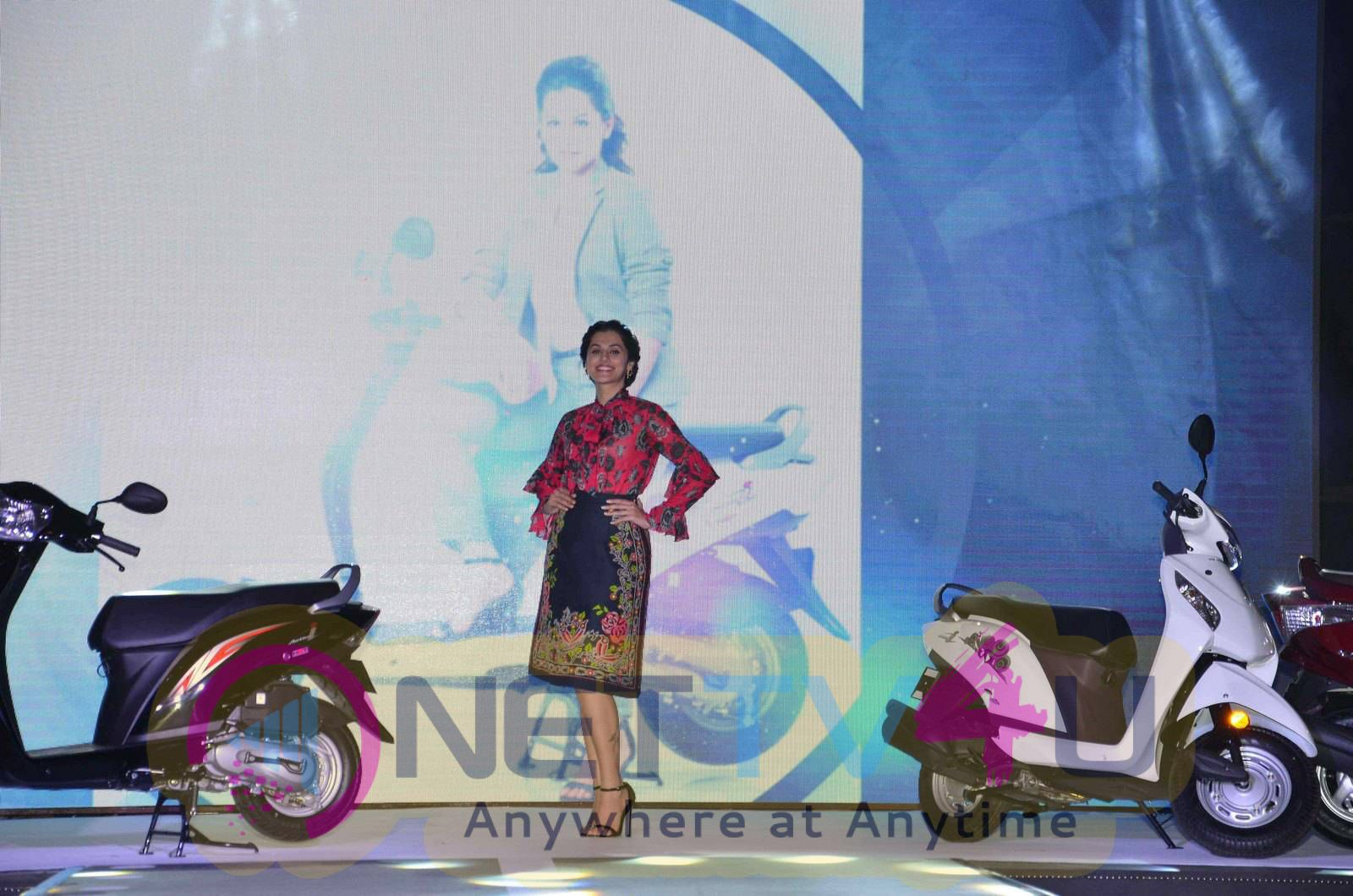 taapsee at activa i and aviator launch photos 13