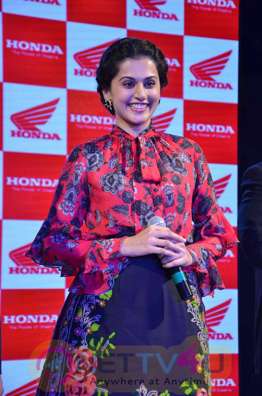 Taapsee At Activa I And Aviator Launch Photos