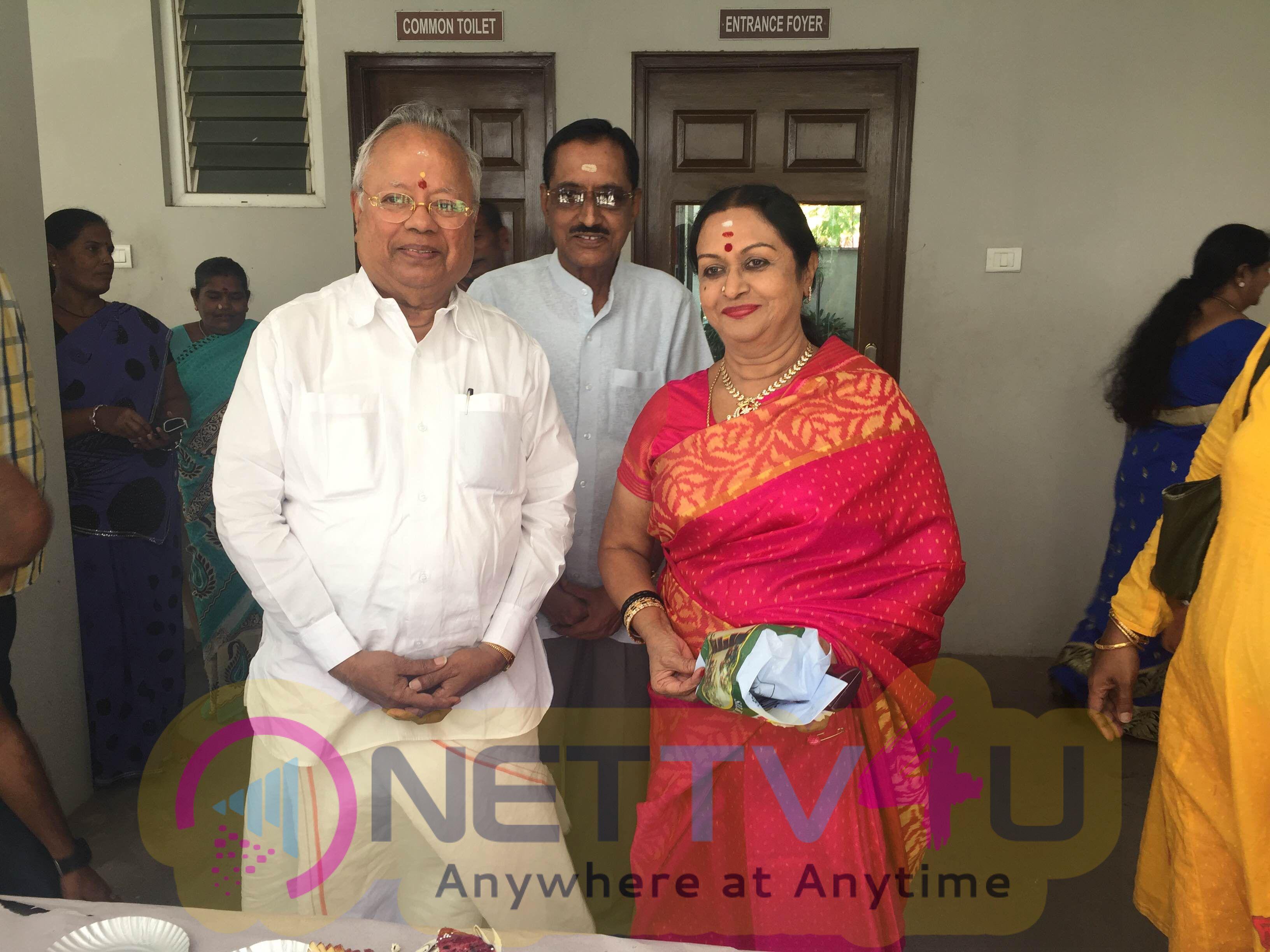 tamil actress saroja devi birthday celebration photos 1