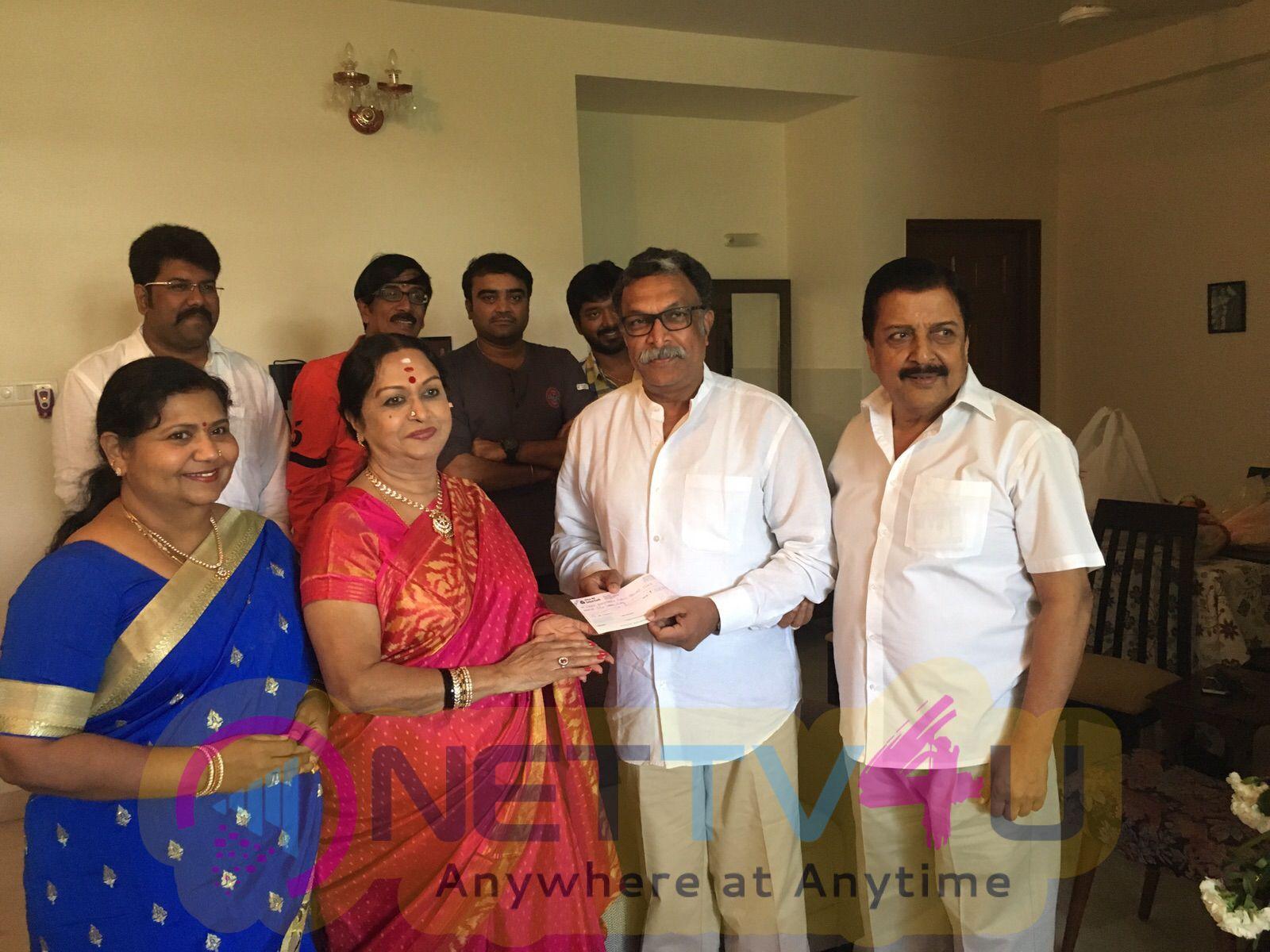 tamil actress saroja devi birthday celebration photos 7