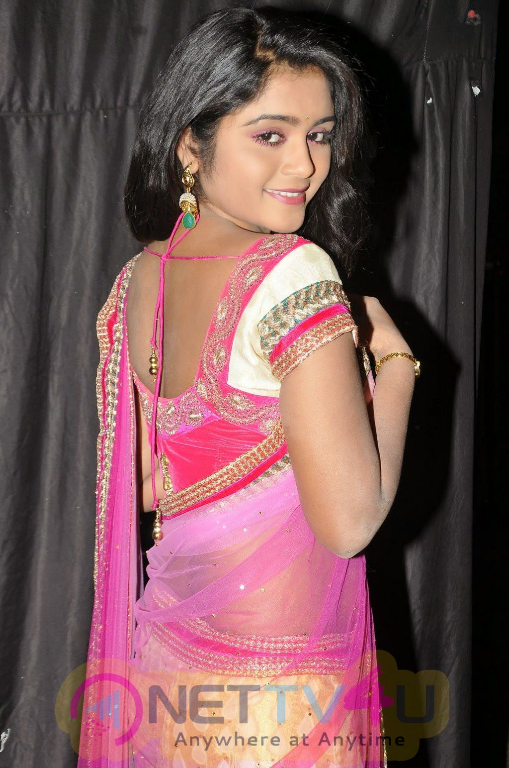 Telugu Serial Actress Sireesha Latest Photos In Half Saree Stills