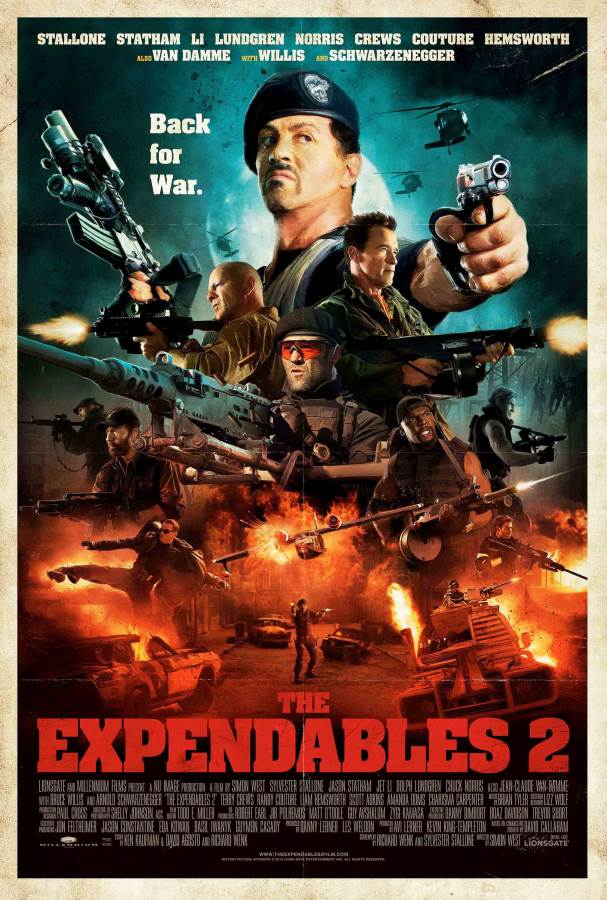 The Expendables 2 Movie Review English