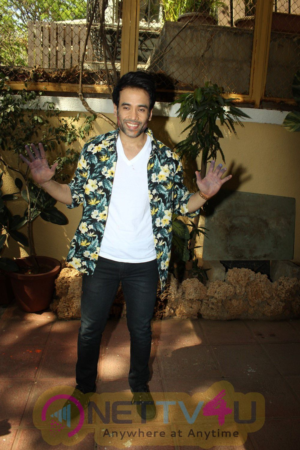 Actor Tusshar Kapoor Celebrates Holi With Media Stills