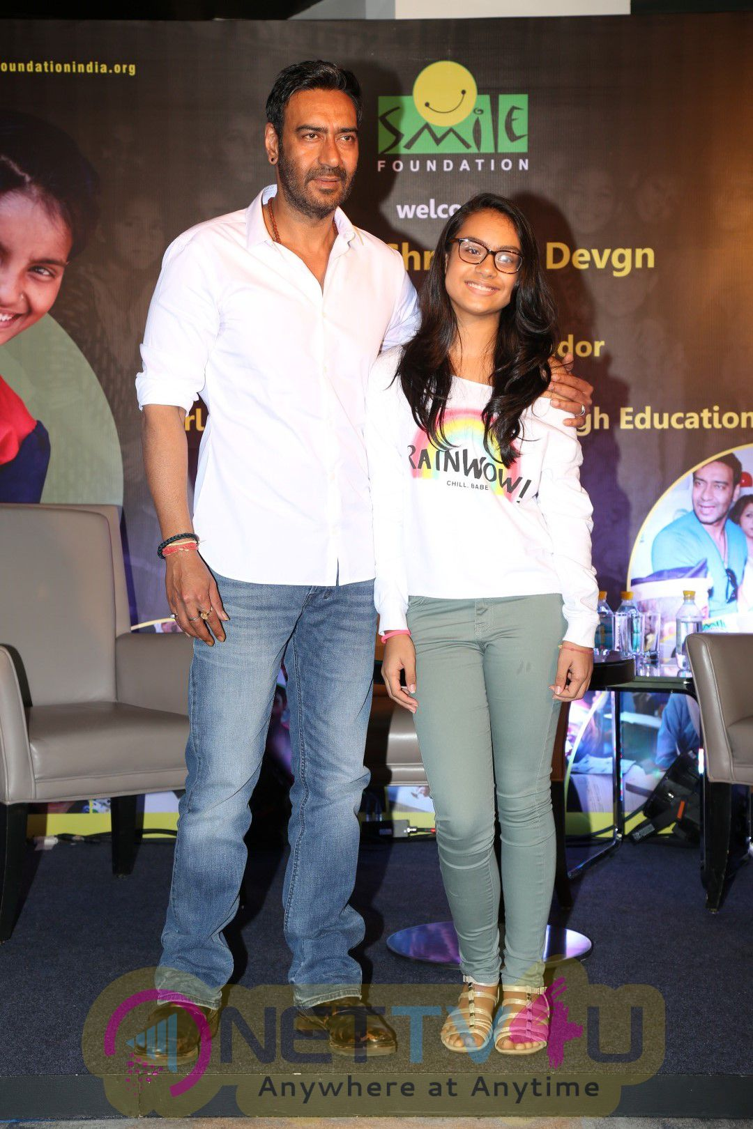 Unveiling Of The Campaign In The Presence Of Ajay Devgan With Smile Foundation Photos Hindi Gallery
