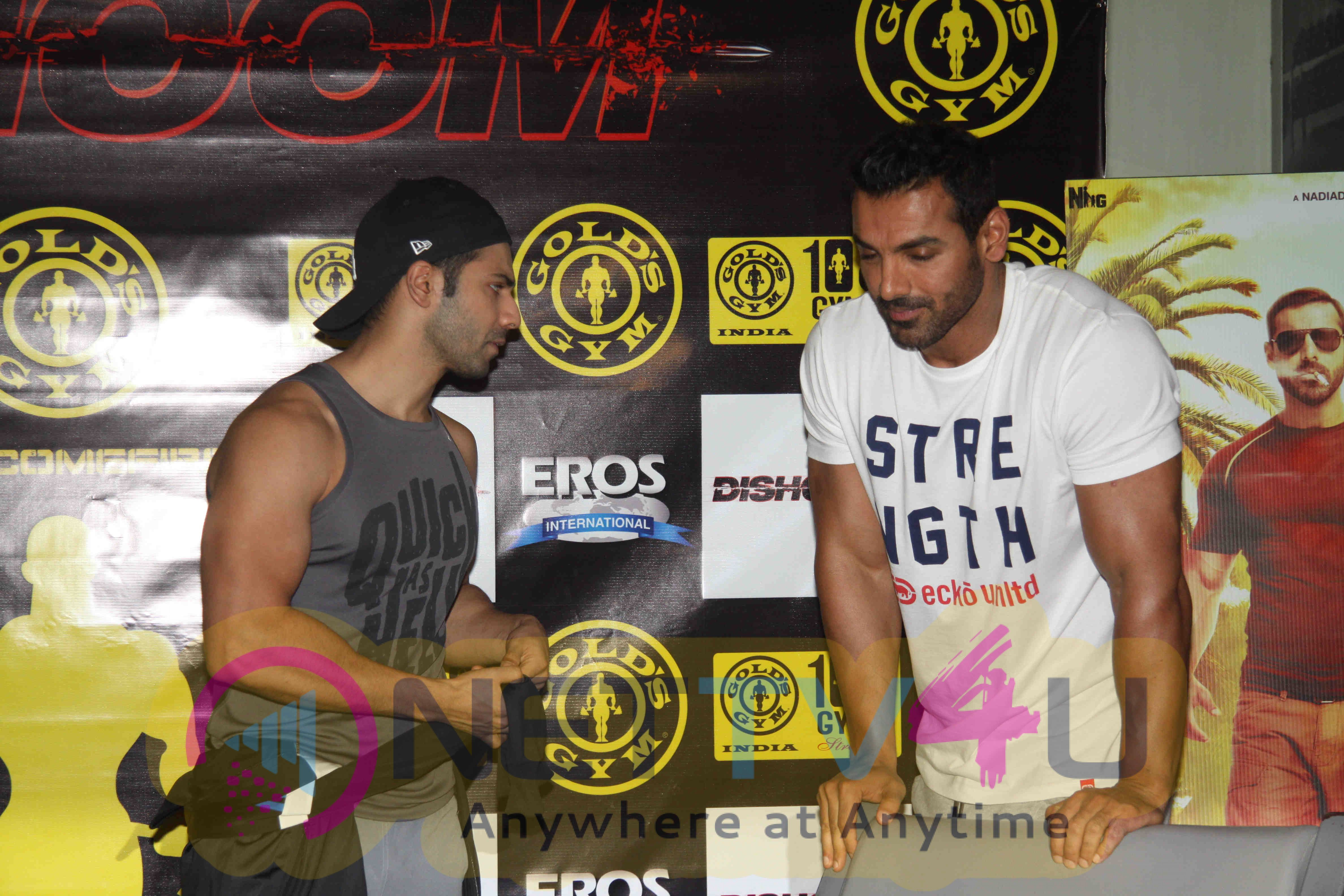 Upcoming Hindi Film Dishoom At Gym Excellent Photos Hindi Gallery