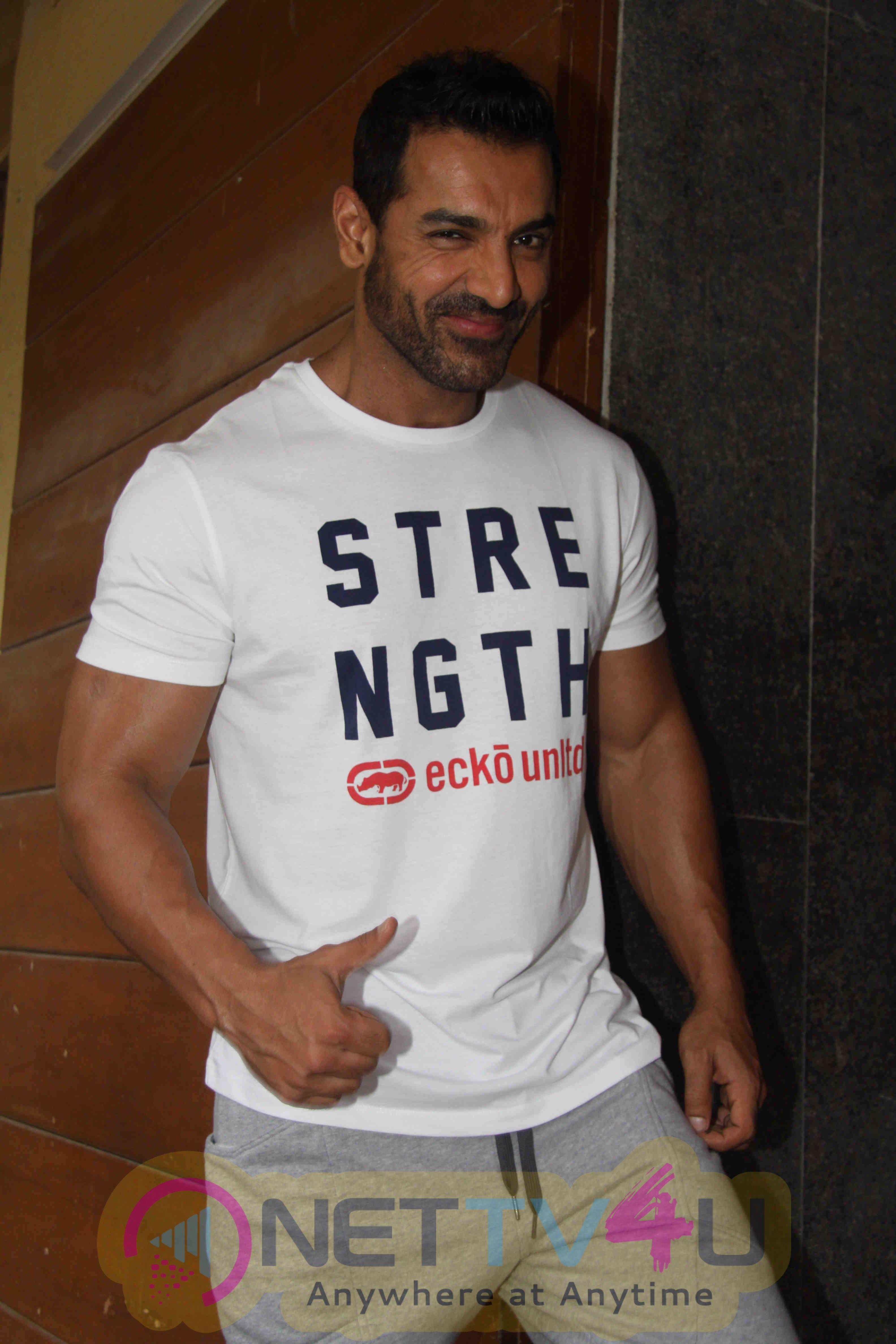 Upcoming Hindi Film Dishoom At Gym Excellent Photos Hindi Gallery
