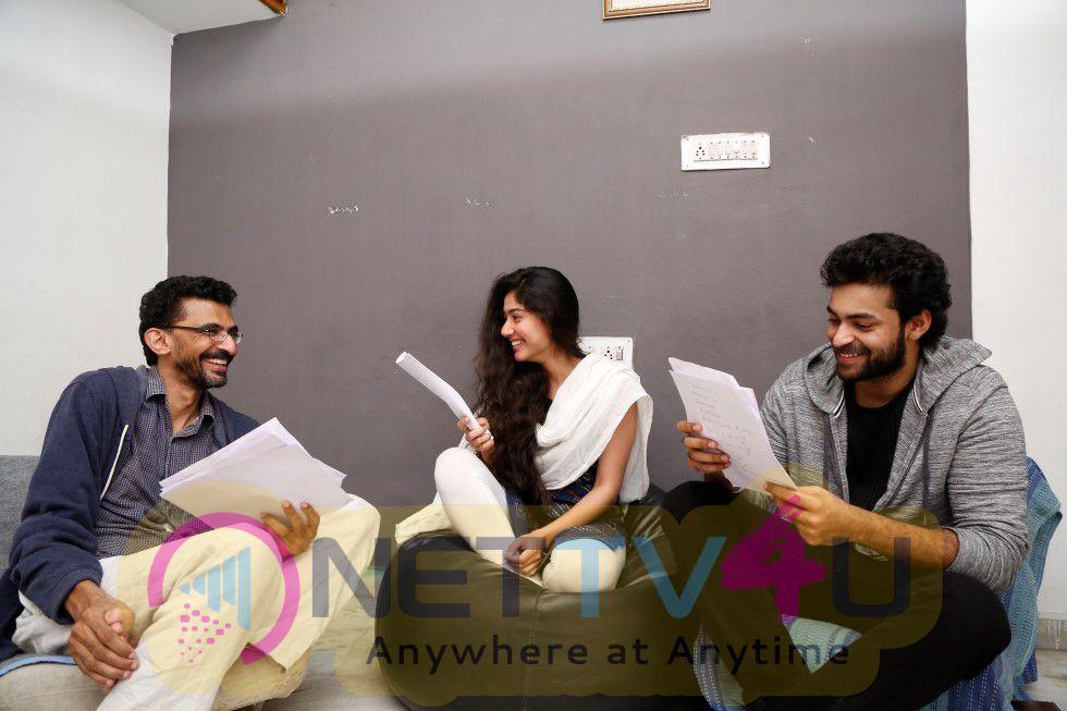 Varun Tej & Sai Pallavi & Sekhar Kammula In Pre Production Workshop Photos