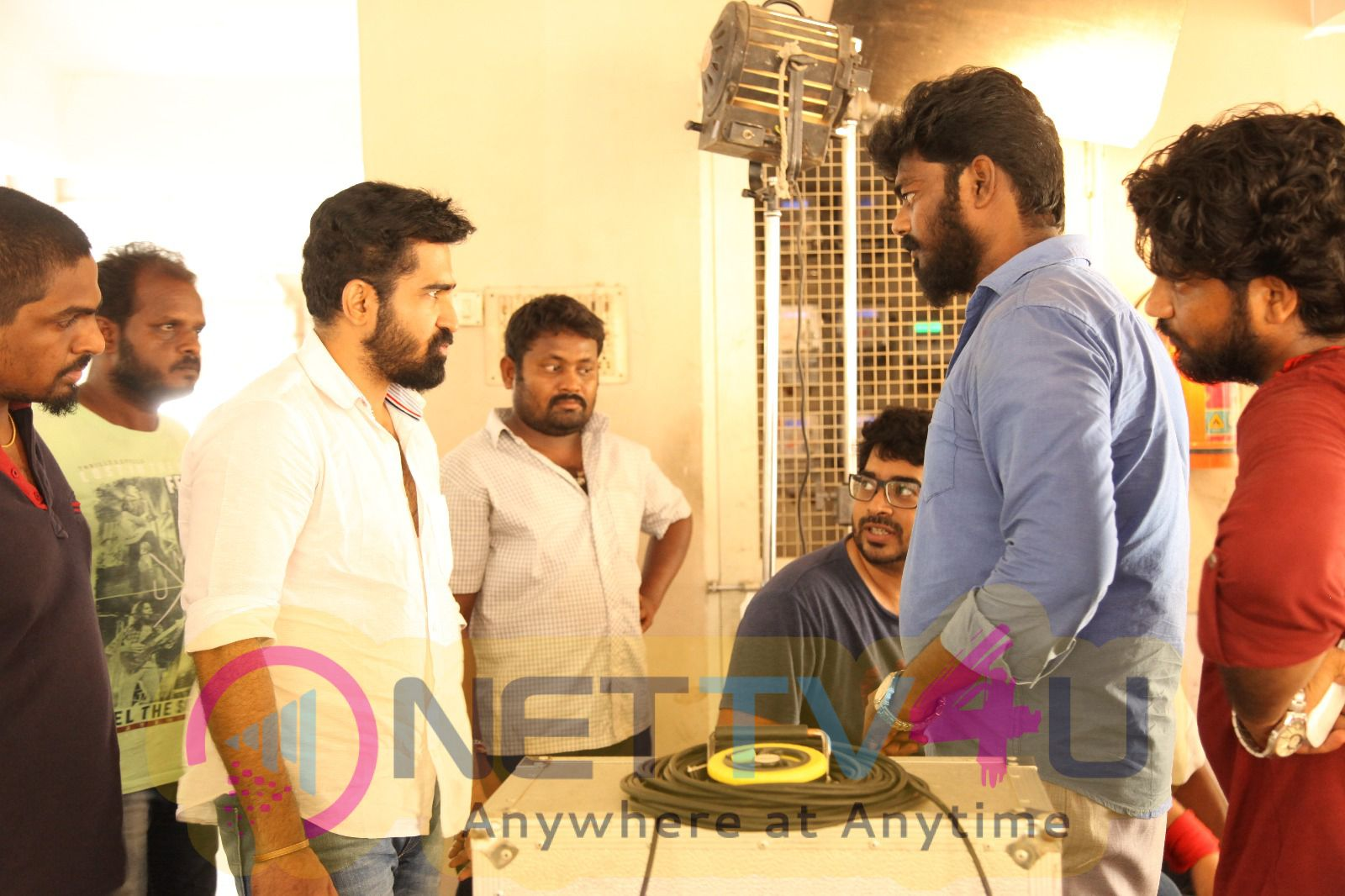 Vijay Antony In Saithan Movie Working Stills