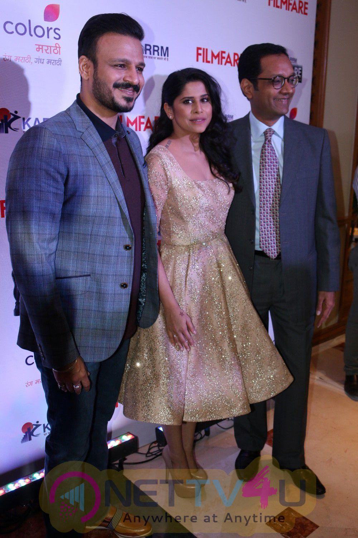 Vivek Oberoi & Sai Tamhankar Announcement Pc Of Filmfare Awards Images