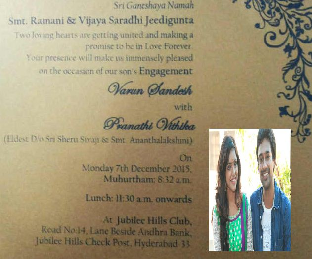 Varun And Vithika'S Engagement Card Ready!