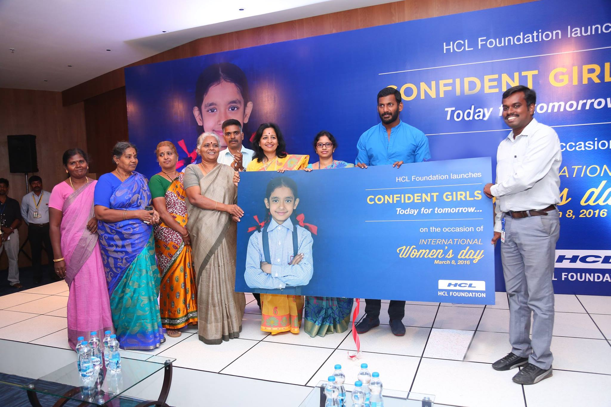Vishal Launched HCL Confident Girls Today For Tomorrow Regarding Women's Day