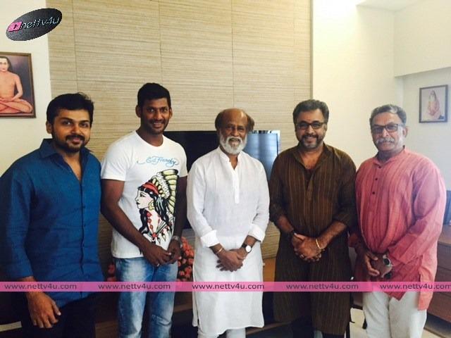 Vishal's Pandaavar Ani Meets Rajinikanth, Kamal Haasan And Kushbu
