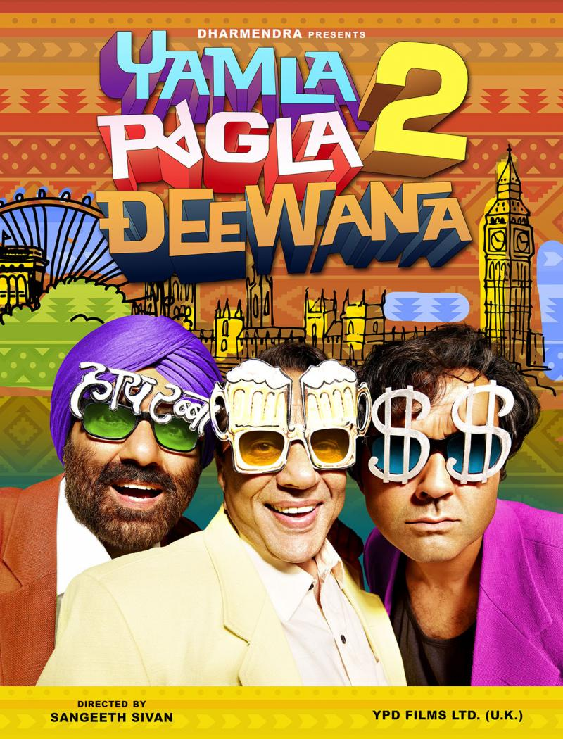 Yamla Pagla Deewana 2-Punctuated Laughter!Movie Review