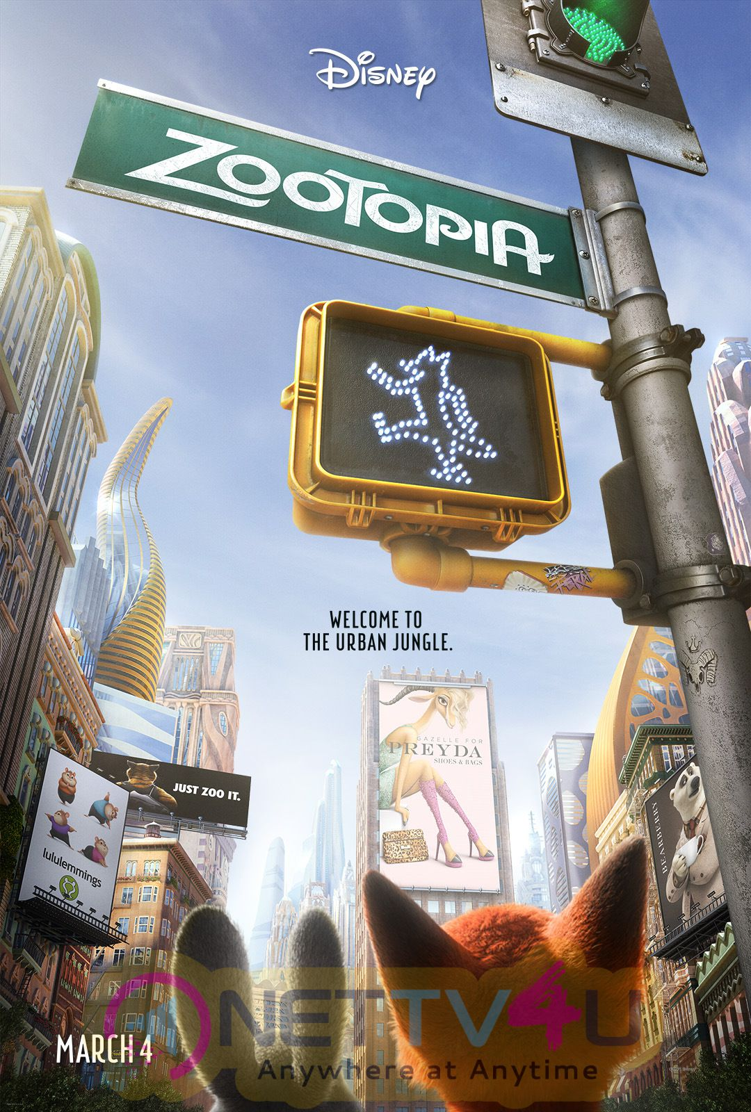 Zootopia Poster Characters Based On 'Lion King' And More Creature Hair Than Frozen! Record Breaking Special Effects In Store For